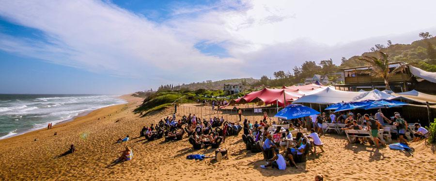 Beach Bums Restaurant, located 20 minutes north of Umhlanga